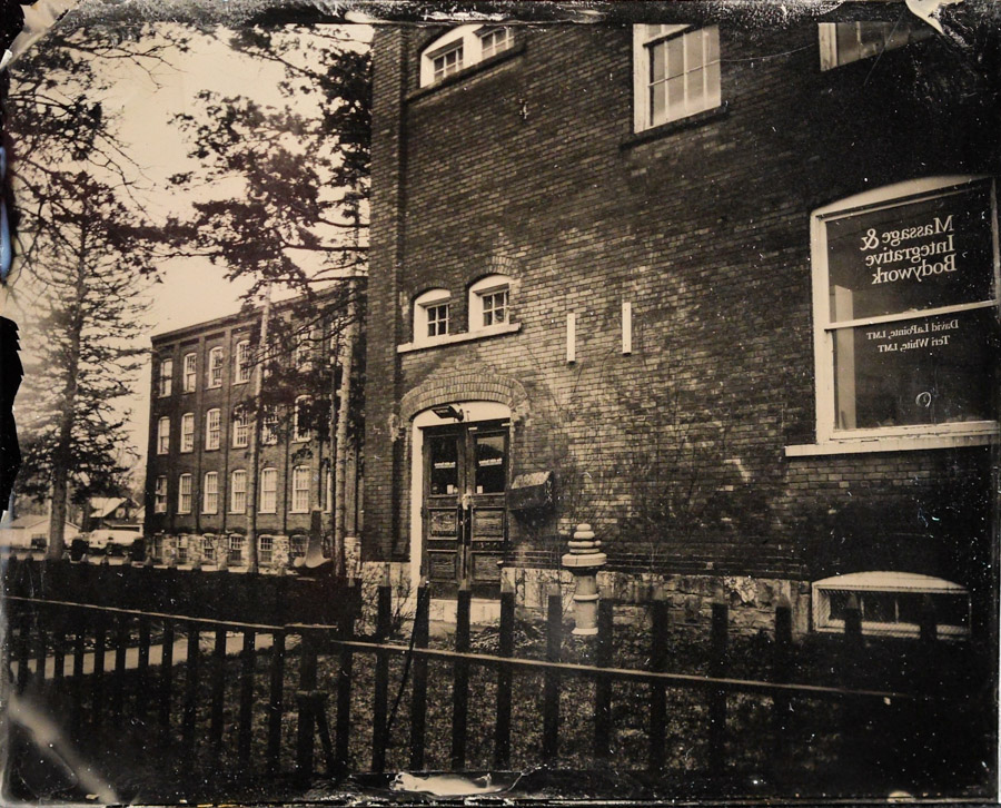 NY Tintype of the Shirt Factory in Glens Falls NY