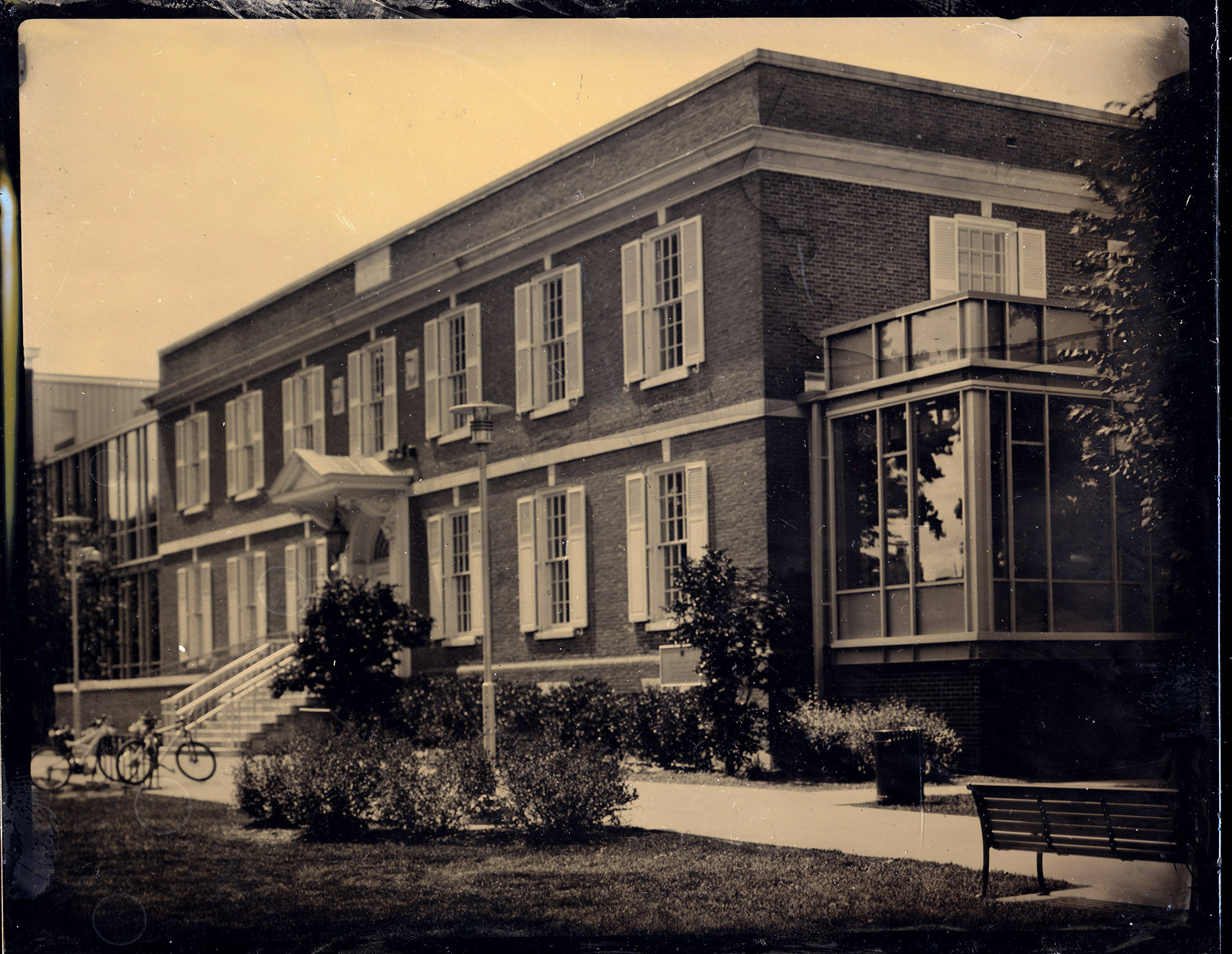 Crandall Library tintype by Wet Plate Photographer Craig Murphy, in Glens Falls, NY.