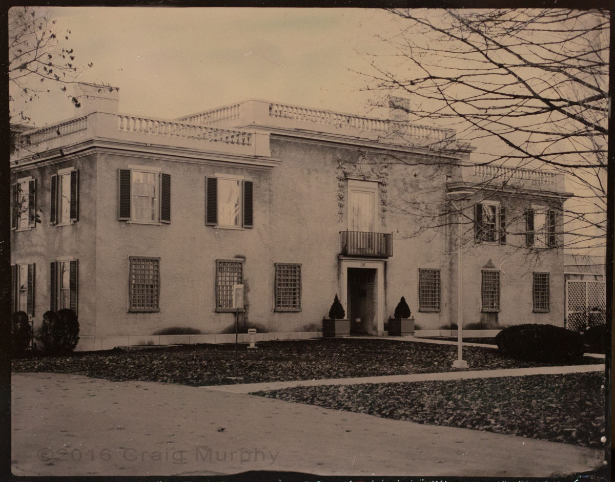 Tintype of Hyde Museum Glens Falls, NY by Craig Murphy