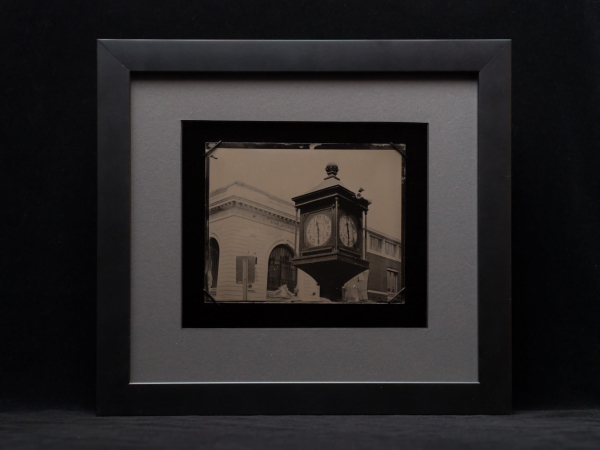 Framed Clock Tintype Glens Falls Art® is a mobile tintype photography studio.