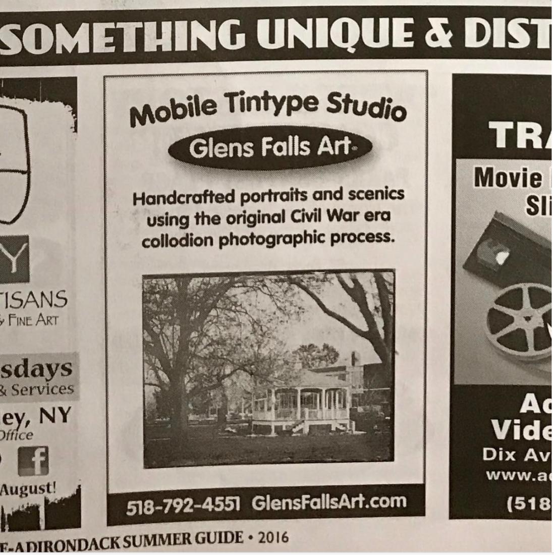 Original fine art at Glens Falls Art locations in Glens Falls NY. Watch free! Fine art tintype collodion!