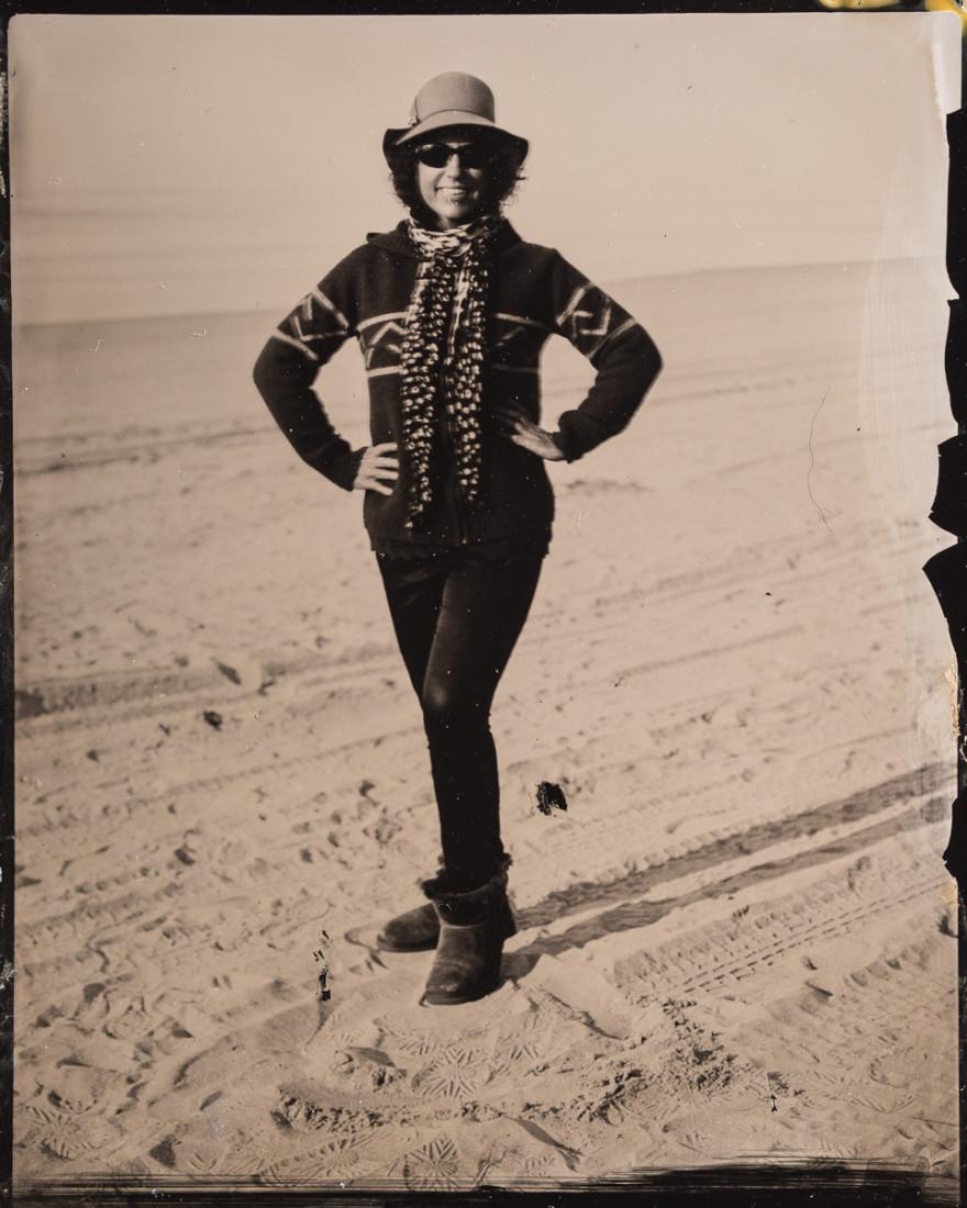 Tintype portrait photograph of Glens Falls Art founder by fine art tintype photographer Craig Murphy